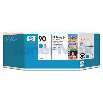 HP DESIGNJET 4000 NO 90 INK CYAN 225ML